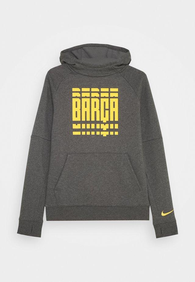 FC BARCELONA HOOD - Klubové oblečení - charcoal heather/amarillo