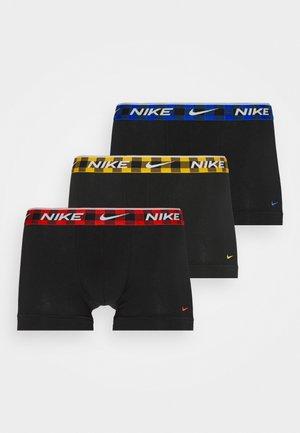 EVERYDAY STRETCH TRUNK 3 PACK - Onderbroeken - black/red/royal/gold