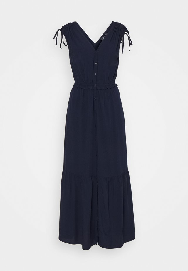 RUCHED  - Maxi-jurk - navy uniform