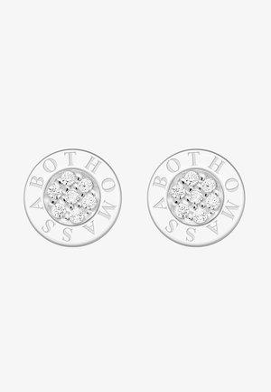 Earrings - silver coloured, white