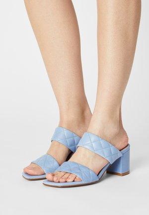 BIABEONNA - Heeled mules - light blue