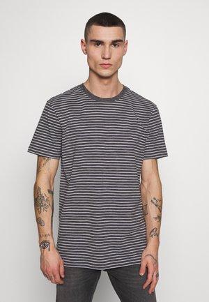 BASIC STRIPED TEE - Print T-shirt - charcoal