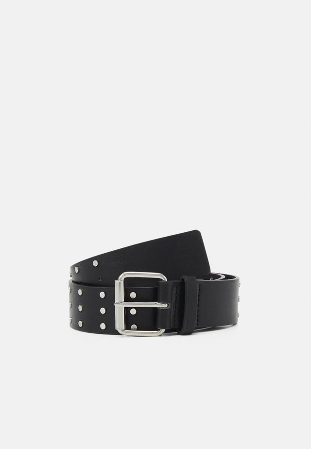 NILLA BELT - Pásek - black/silver-coloured