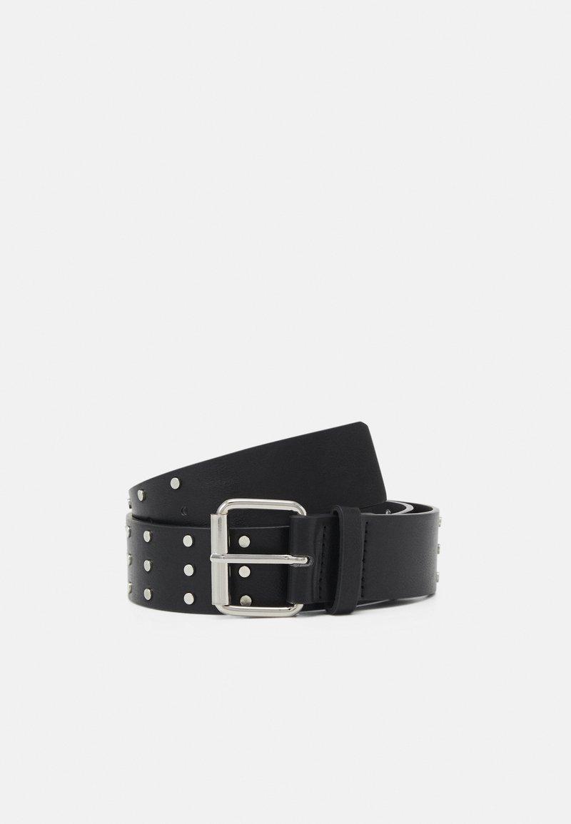 Gina Tricot - NILLA BELT - Waist belt - black/silver-coloured