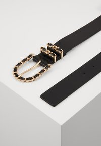 Gina Tricot - SANDRA BELT - Pásek - black/gold-coloured - 1