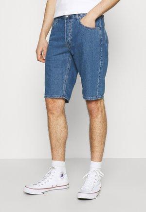 FIVE POCKET - Denim shorts - mid stone