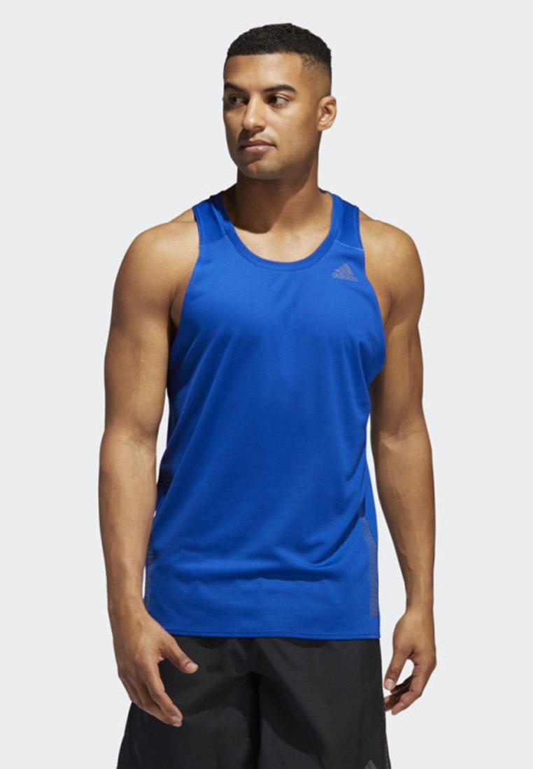 adidas Performance - RISE UP N RUN SINGLET - Funktionströja - blue