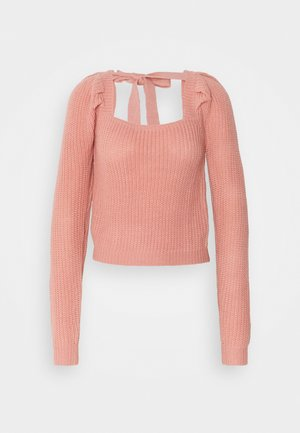 PUFF SLEEVE MILKMAID CROP JUMPER - Maglione - pink