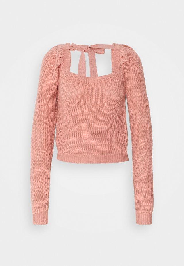 PUFF SLEEVE MILKMAID CROP JUMPER - Pullover - pink