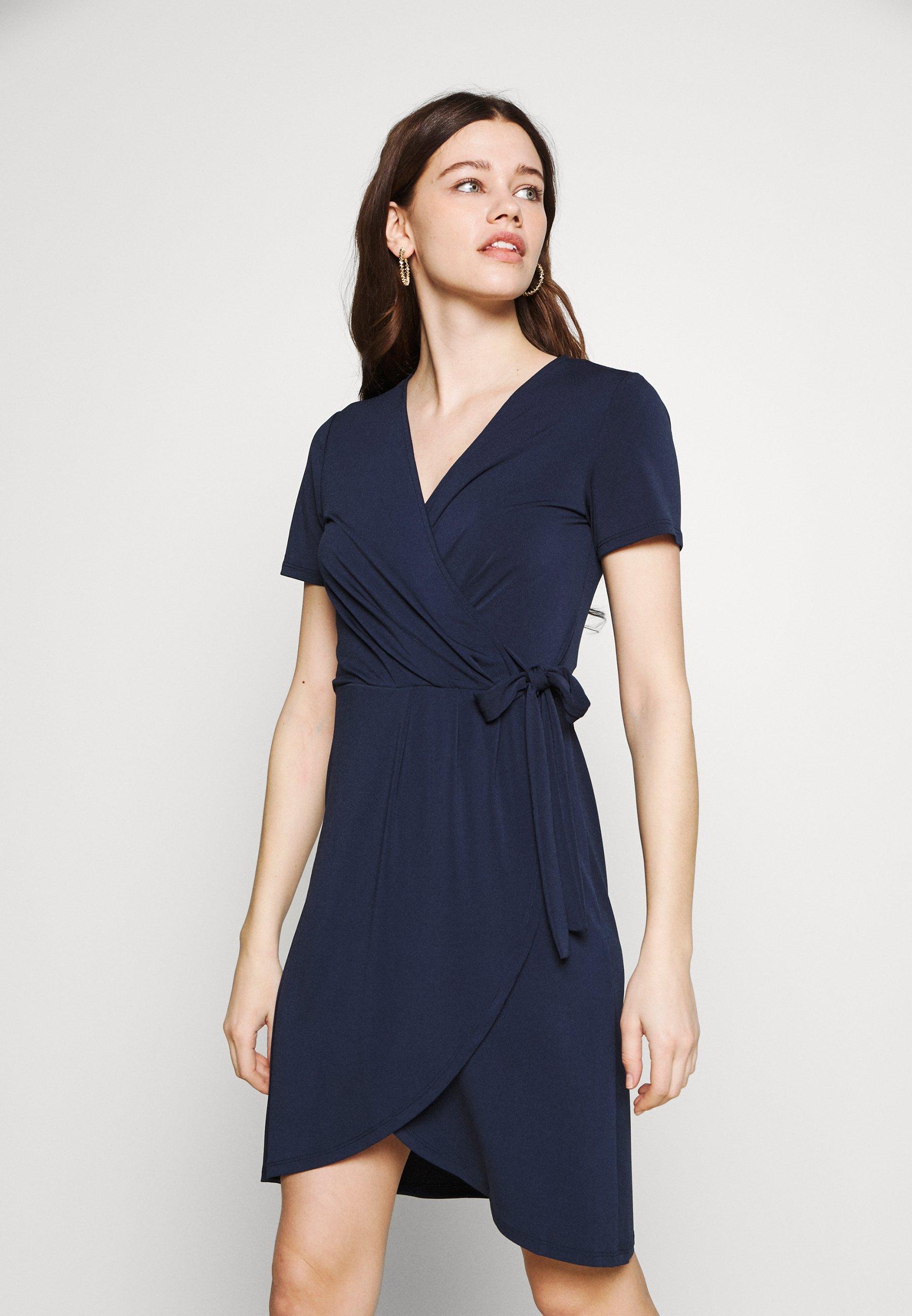 VINAYELI KNEE WRAP DRESS   Jerseykleid   navy