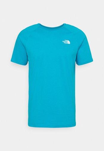 TEE - Print T-shirt - turquoise/white