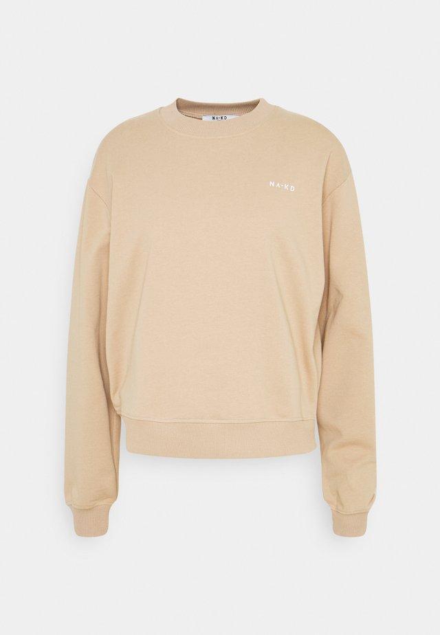 LOGO BASIC - Bluza - beige