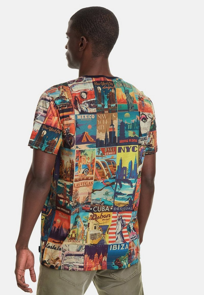 Desigual ERENESTO - T-Shirt print - blue/blau nIe4x0