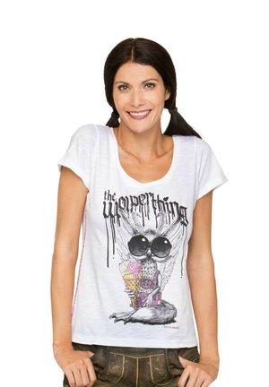 WOLPERMADL - Print T-shirt - weiss