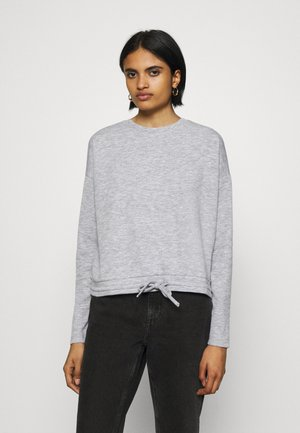 VMAMAIDRAWSTRING O NECK BLOUSE - Jumper - light grey melange