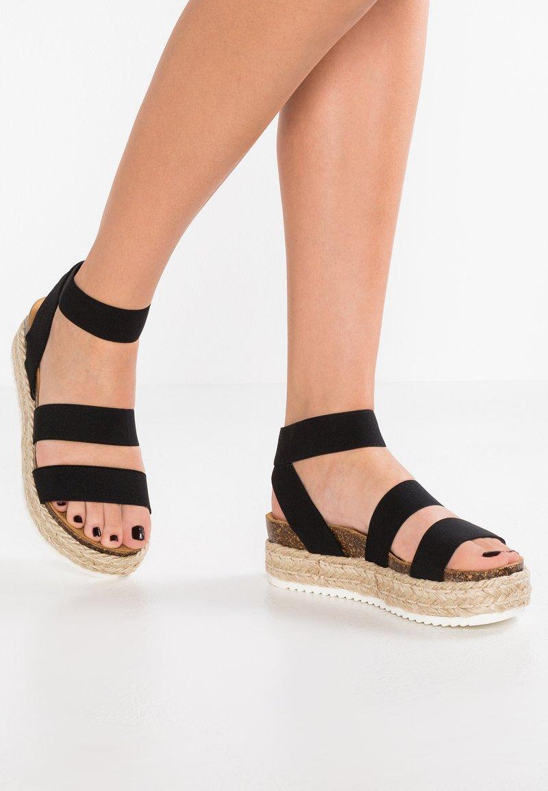 Steve Madden - KIMMIE - Platform sandals - black