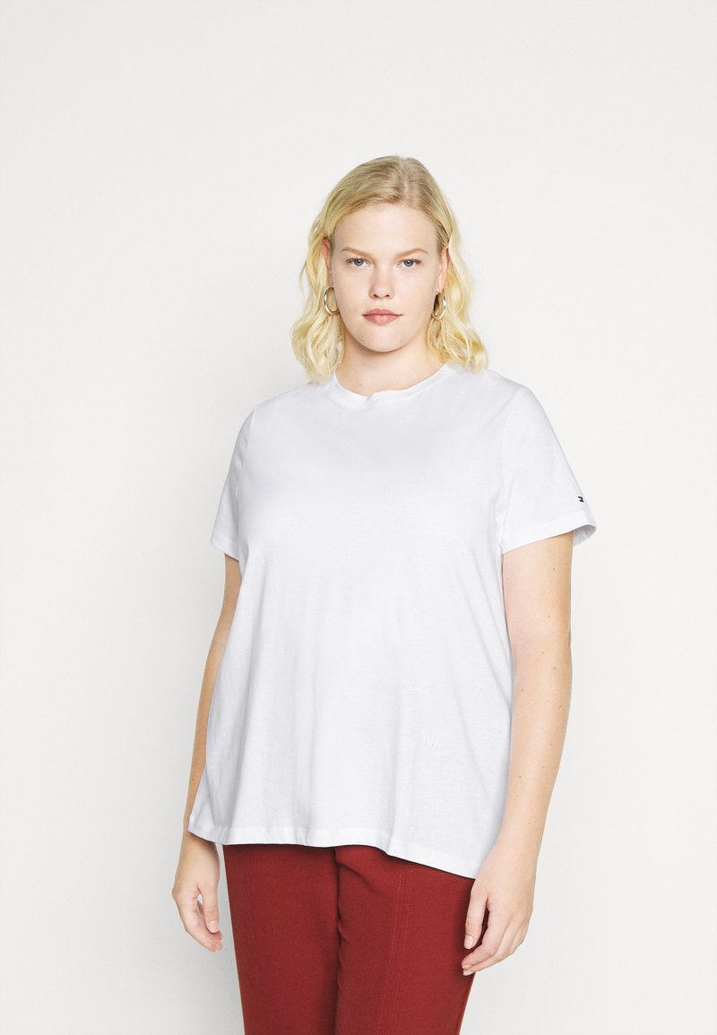 Tommy Hilfiger Curve - COOL TEE - Basic T-shirt - white