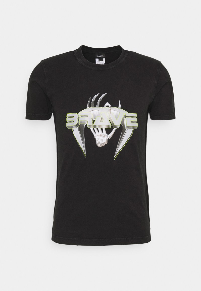 Diesel - T-DIEBIND-SLITS-A2 MAGLIETTA UNISEX - Print T-shirt - black