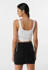 Bershka - Denim skirt - black - 2