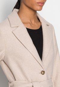 mine to five TOM TAILOR - LOOK LONG COAT - Classic coat - powder beige melange - 4
