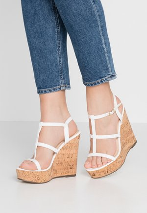BURTON - Højhælede sandaletter / Højhælede sandaler - white