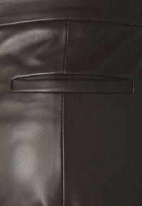 WEEKEND MaxMara - ARIELLA - Leather trousers - dunkel braun - 5