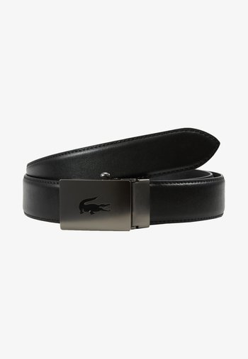 CURVED STITCHED EDGES - Cinturón - black