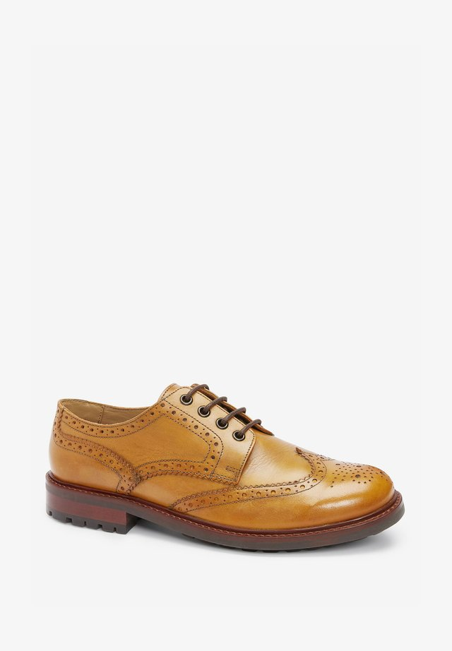 Volnočasové šněrovací boty - tan