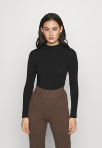 New Look - TURTLE NECK - Long sleeved top - black - 0