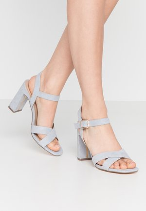 SELENA BLOCK  - High heeled sandals - blue