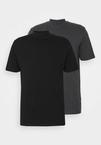 TURTLE 2 PACK - T-paita - black/grey