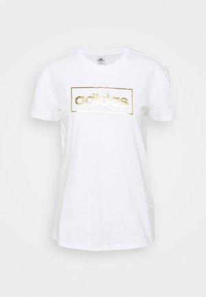 T-shirt imprimé - white/gold