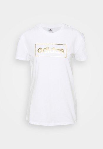 T-shirts med print - white/gold