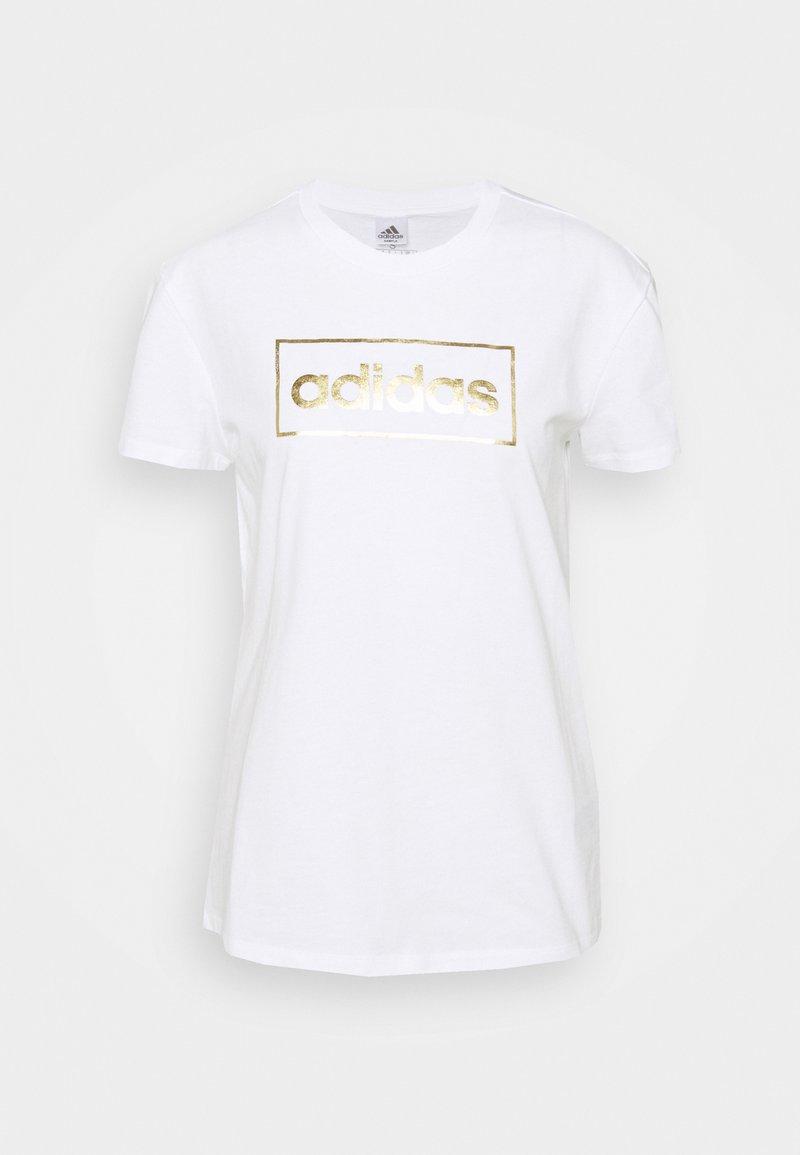 adidas Performance - Print T-shirt - white/gold
