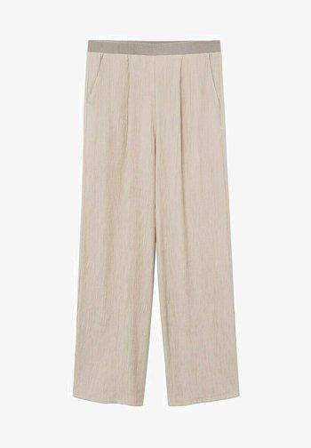 FLUIDO PLISADO - Pantalon classique - marrón medio