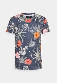 CADIZ BRILIANT - Print T-shirt - navy