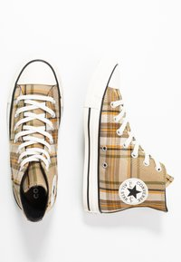 Converse - CHUCK TAYLOR ALL STAR - Baskets montantes - khaki/black/egret - 3
