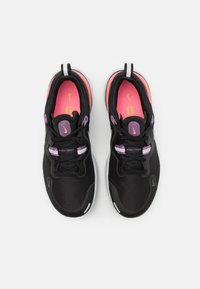 Nike Performance - REACT MILER - Neutral running shoes - black/metallic silver/violet dust - 3