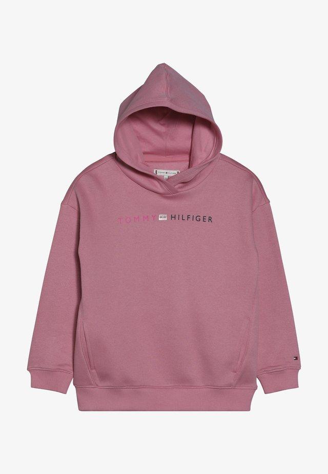 ESSENTIAL LOGO HOODIE - Bluza z kapturem - pink