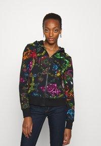 Versace Jeans Couture - Zip-up sweatshirt - black/multi - 0