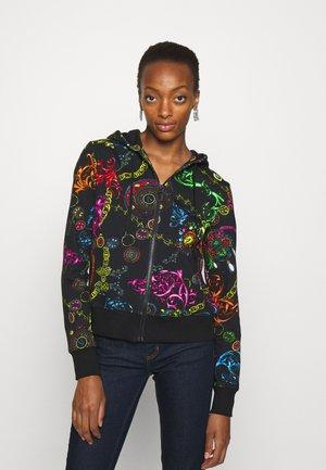 Zip-up sweatshirt - black/multi