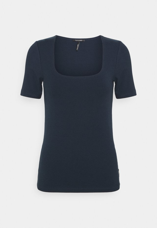 FITTED SQUARE NECK TEE - Basic T-shirt - night