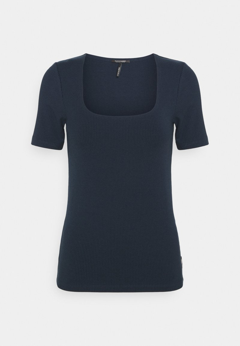 Scotch & Soda - FITTED SQUARE NECK TEE - Basic T-shirt - night