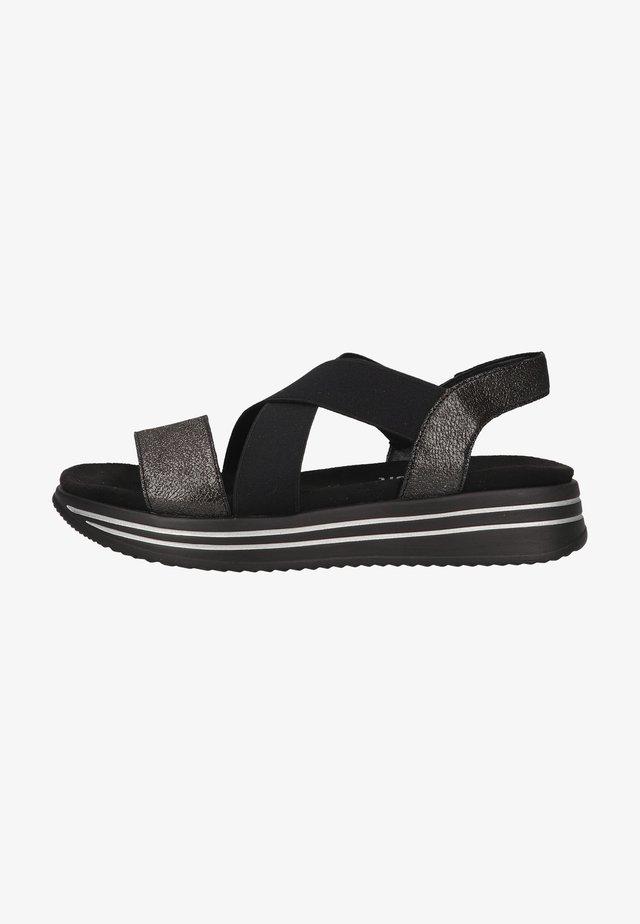 Platform sandals - nero/schwarz