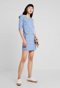 Ragwear - TANYA ZIG ZAG - Jersey dress - blue - 2