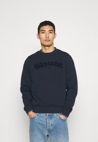 Blauer - C NECK LOGO - Sweater - navy - 0