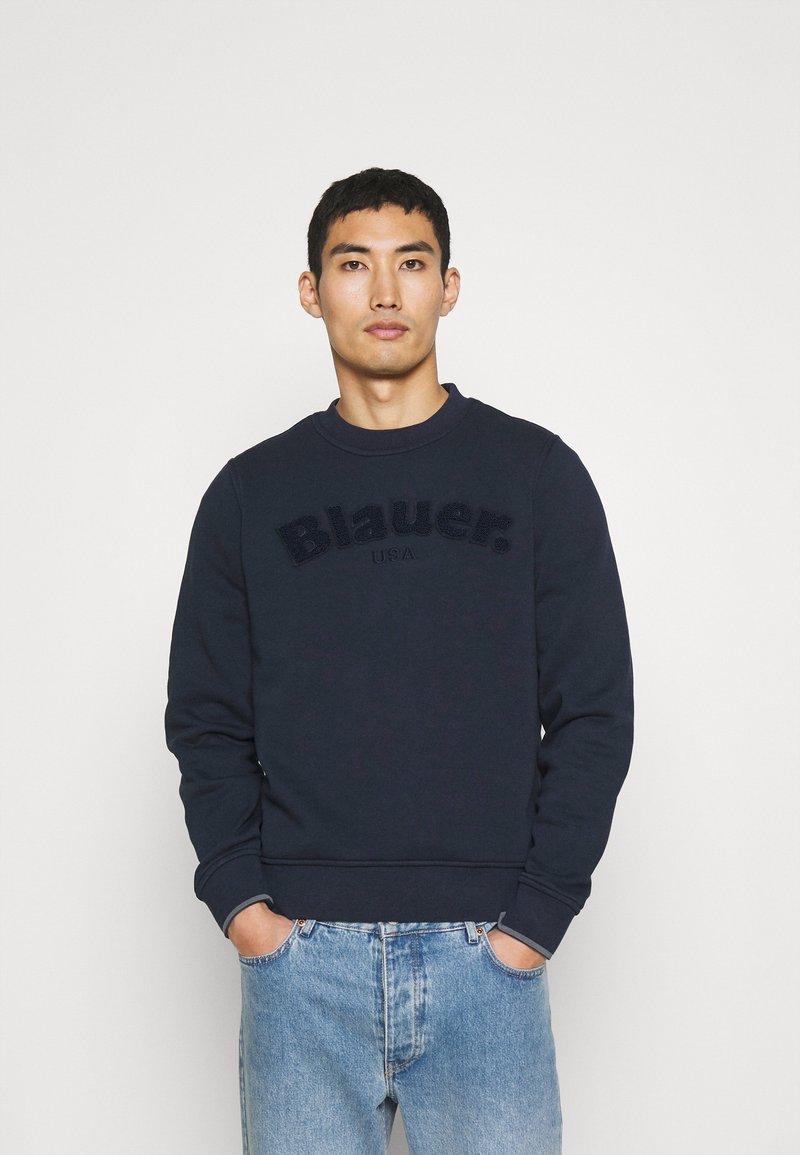Blauer - C NECK LOGO - Sweater - navy