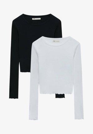 2PACK - Long sleeved top - black