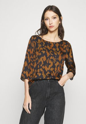 VIKAT 3/4 SLEEVE - Long sleeved top - pumpkin spice/black
