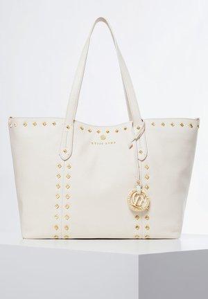 GUESS MINI-SHOPPER SAPPHIRE ECHTES LEDER - Shopping bag - weiß